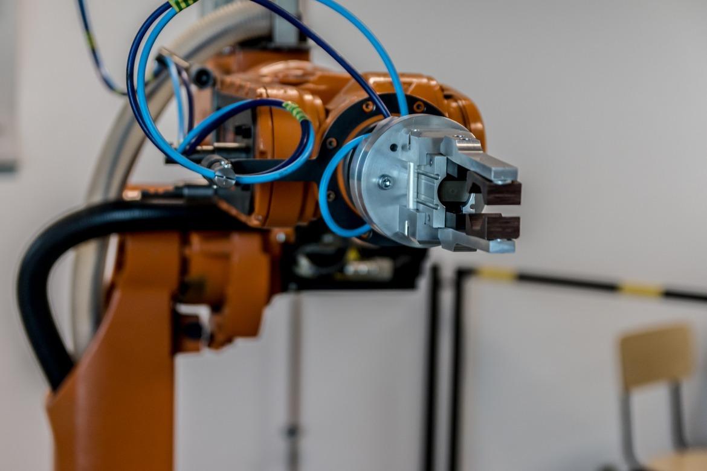 photograph of a robotic arm