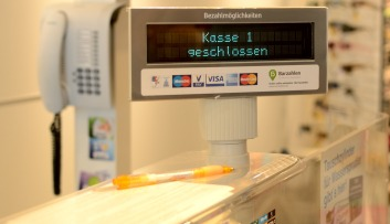 photograph of a point of sale checkout